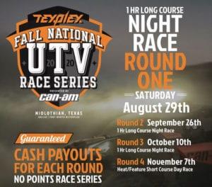 Texplex Fall National UTV Race Series Event 2020